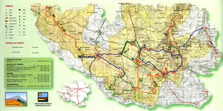 Plano comarca Noviales (Soria)