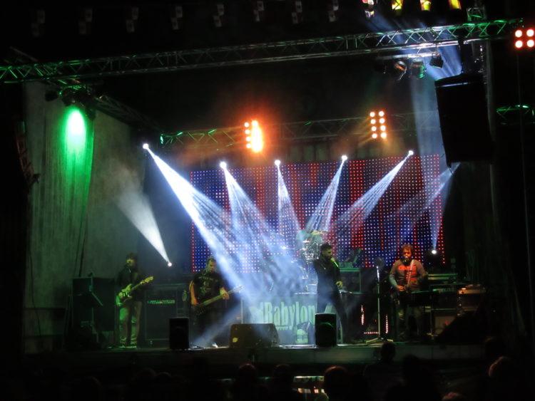 Actuación musical en fiestas de Noviales